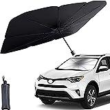 Car Windshield Sunshade Umbrella Foldable Car Sun Visor Front Window Sun Shade Cover Block UV Rays and Keeps Cars Cool