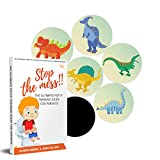 Potty Training Seat Magic Sticker | Dinosaur toddler Potty Training Toilet Color Changing Sticker | 5 Pack Toilet targets with FREE potty e book | Use with or Without Potty chart or potty watch
