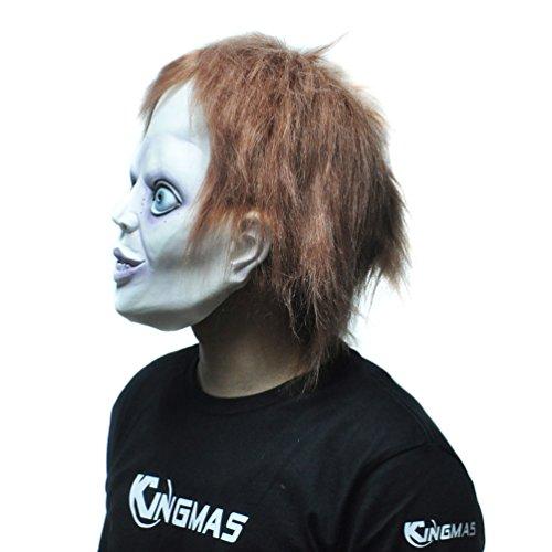 『KINGMAS ホラー マスク 幽霊 怖い お面 リアル ゾンビ ! ハロウィン コスプレ 変装』の3枚目の画像