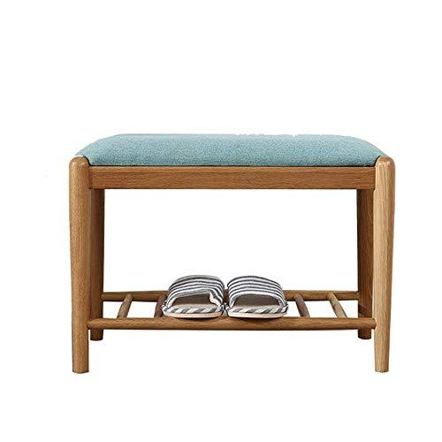 YISUNF Zapato de madera gabinete con amortiguador de asiento de banco de almacenamiento asiento acolchado del amortiguador, Pasillo Banco de zapatos Gabinete Banco de calzado (Color: Madera, Tamaño: 4