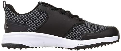 Puma Men's 194542 Golf Shoe, Black Silver, 9 UK
