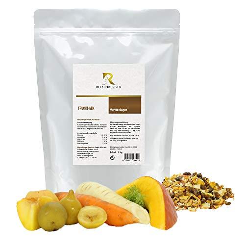 Ritzenberger Hundefutter Frucht-Mix mit Gemüse | 1 kg Aromapack | Ergänzungsfutter
