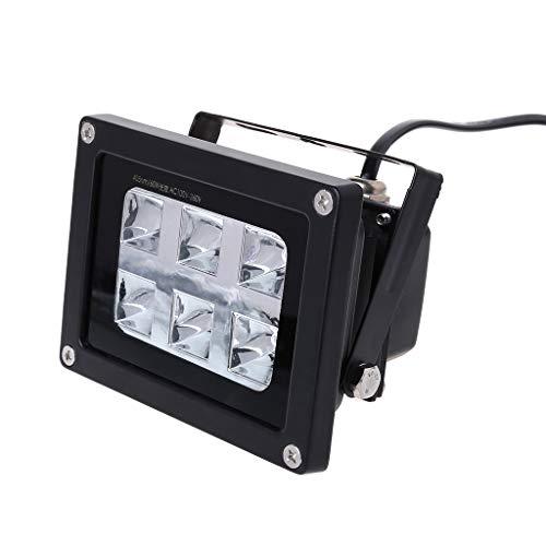 BIlinli 60W 405nm 6 UV LED Resin Curing Light Lamp for SLA DLP 3D Printer UK Plug