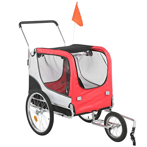GOTOTOP Remolque de Bicicleta para Mascotas, Carro Cochecito Plegable para Transporte Gatos...