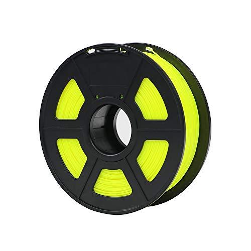 ZFX-3DHAOCAI, Materiali di Stampa di plastica dei Materiali di consumo di plastica del filamento della Stampante 3D di PLA 1.75mm 1kg 28 Colori di generi for Voi scelgono (Color : Yellow)