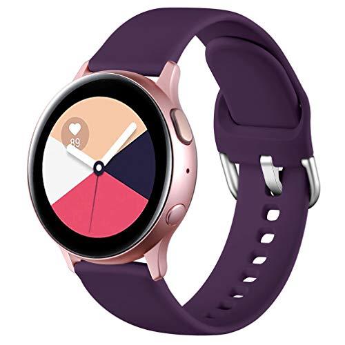Wepro Correa Compatible con Samsung Galaxy Watch Active/Active2 40mm 44mm, Correa de Repuesto de Silicona Suave para Samsung Galaxy Watch 42mm/Watch 3 41mm/Gear Sport, Pequeño Grande
