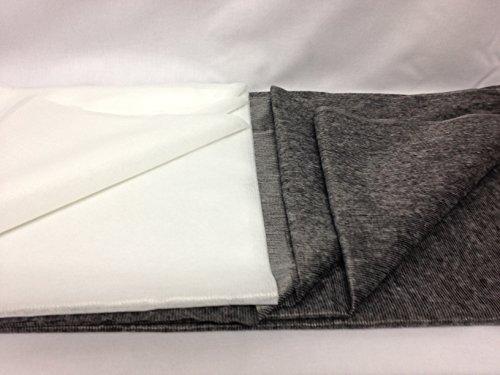 FIM Vlieseinlage Fadenverstärkt, Klebeeinlage zum Aufbügeln, Breite 90cm, meterware, weiß