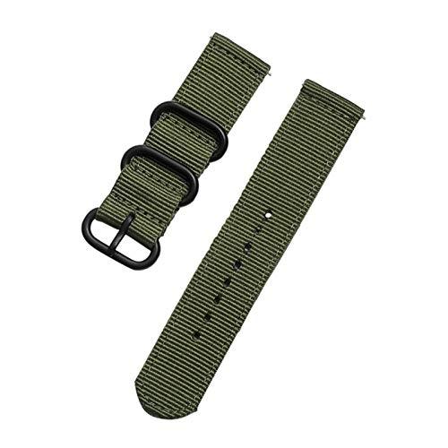 para Garmin Vivoactive 4 Nylon Watch Band Strap Huawei Watch GT GT2 46mm / Xiaomi Huami Amazfit GTR 47mm Smart Pulsera (Color : Green, Size : For Garmin 4)