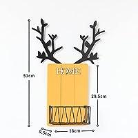 壁に取り付けられたフローティング棚、家の寝室の居間の壁の装飾、創造的な木製の角,Yellow