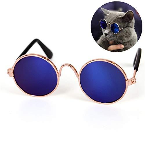TXDIRECT Brille Hund Hunde Sonnenbrille Gläser für Katzen Schutzbrille wasserdichte Hundebrille Welpen Sonnenbrille Augenschutzbrille Hundebrille Augenschutz Blue