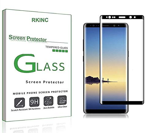 RKINC Protector de Pantalla para Samsung Note 9, [1 Pack] Curvado 3D Pantalla Completa Cobertura Cristal…