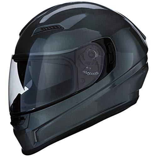 Z1R Casco de Moto Integral Homologado con Pantalla y Visera Parasol Desplegable | Ventilación | Color Gris | Policarbonato | Hombre o Mujer (Large)