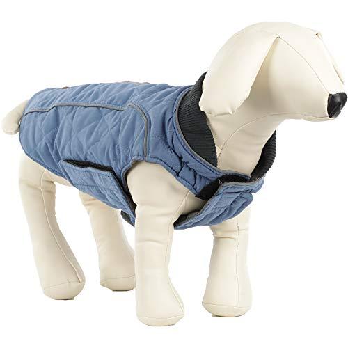 ubest Hundemantel wasserdichte Winterjacke, Warm Weste Reflektierende Hundejacke für Winter und kaltes Wetter, Blau, S