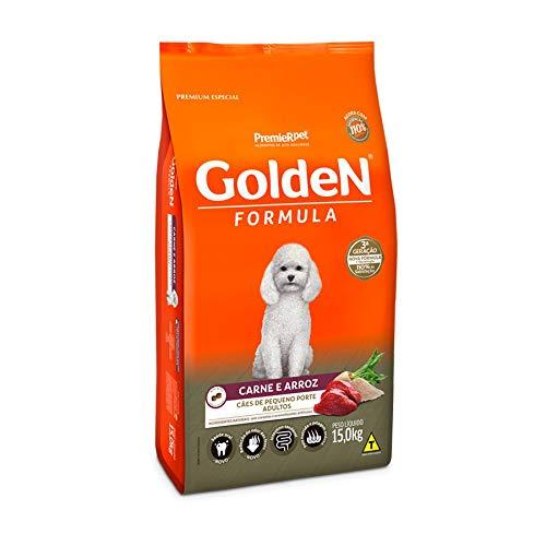 Ração Golden Fórmula Mini Bits para Cães Adultos Pequeno Porte Sabor Carne e Arroz, 15kg Premier Pet Para Todas Pequeno Adulto,