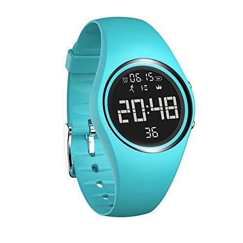 MINASAN Reloj inteligente impermeable Fitness Deporte Actividad cardíaca Monitor para iOS Android (azul)