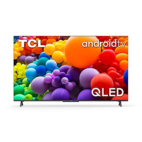 TCL QLED 55C725 - Televisor 55 Pulgadas QLED, Smart TV Resolución 4K HDR Pro, HDR Multi-Format, Game Master, Sonido Onyko Dolby Atmos, Android TV, Google Assistant Incorporado, Compatible con Alexa