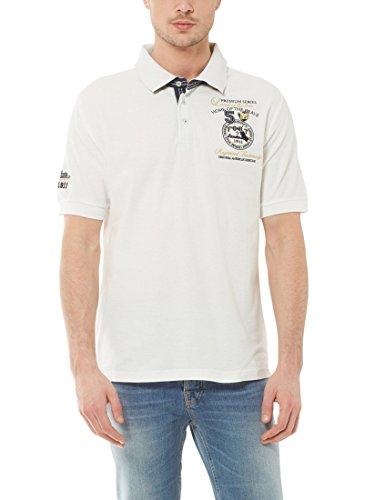 Ultrasport Fort Lauderdale Collection Poloshirt Herren Wadhurst klassisches Herren Polohemd im 3-Knopf-Style, Weiß, S