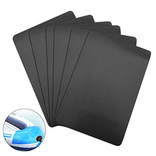 PVC Patch Kit for Inflatables Waterproof,6 Pcs PVC Boat Repair Kit for Inflatable Boat Kayak Canoe...