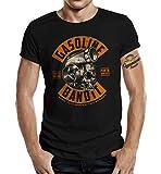 Camiseta Racer Tuner: Turbo Skull Negro M...