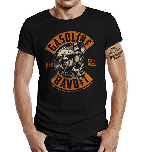 Racer Tuner T-Shirt: Turbo Skull XL