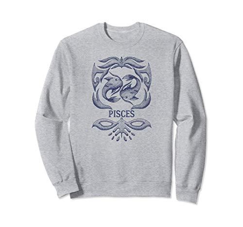 Camiseta retro del zodiaco Piscis Regalo de cumpleaños Signo Sudadera