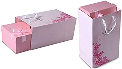 DULPLAY プリザーブドフラワー,エミュレーション,プリザーブドフラワー ローズ,カスミソウ ギフト ボックス Diy バレンタインの日,決して実際に枯れた 結婚 バレンタイン,周年, 誕生日- 31x18x10cm(12x7x4inch)