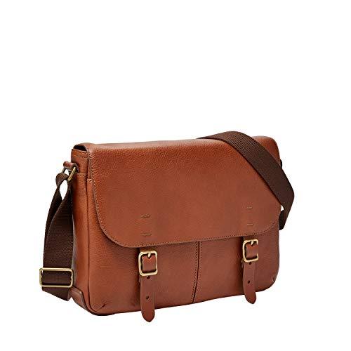 Fossil Men's Buckner Small Crossbody Messenger Bag, Cognac