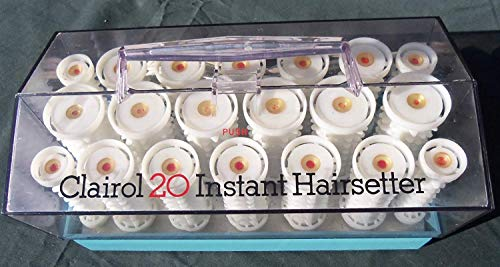 Clairol 20 Instant Hairsetter Hot Rollers Curlers Set Pageant C20S INCLUDES CLIPS