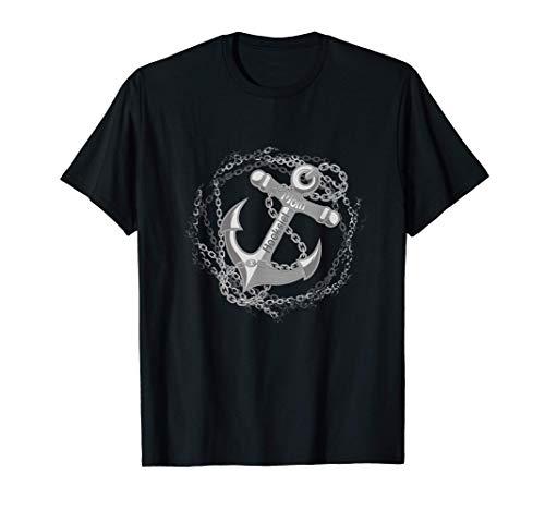 Moin Hooksiel mit Anker plattdeutscher Strandurlaub am Meer T-Shirt