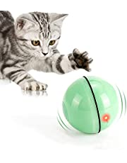 Cat Toys Ball with LED Light,360 Degree Self Rotating Ball,USB Rechargeable Interactive Cat Ball Toy,Stimulate Hunting Instinct Kitten Funny Chaser Pet Toy