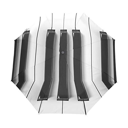 Musik Klavier Tastatur Regenschirm Taschenschirm Automatische Reise Winddichte Sonnenschutz Trekkingschirm Wanderregenschirm für Frauen Männer