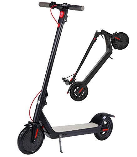 CEXTT Scooter eléctrico, E Moto, 8,5 Pulgadas neumático neumático 250W Modo de Velocidad del Motor sin escobillas 3 una Velocidad máxima 25KM Freno de Doble Disco/H LED de visualización 30 km