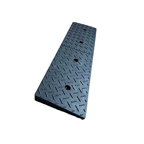 CJXing-Slope Pad Rampas de coche, de goma, color negro, para aparcamiento, entrada de fábrica, rampas de bordillo, para exteriores, portátil, 100 x 25 x 6,2 cm, caucho, negro, 100*25*6.2CM
