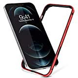 Metal Bumper Case for iPhone 13 Pro Max 6.7'' Case 2021,Metal Frame with Reinforced Soft Inner Bumper,Raised Edge Protection,Zero Signal Interference for iPhone 13 Pro Max 6.7 Inch,Red