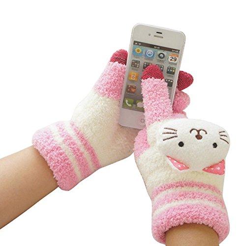 TININNA Mode guantes mujer niña lana táctil pantalla Sport