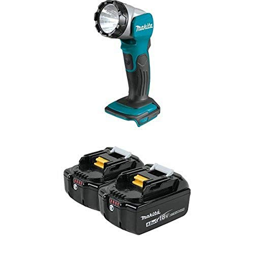 Makita DML802 18V LXT Lithium-Ion Cordless L.E.D. Flashlight with BL1840B-2 18V LXT Lithium-Ion 4.0Ah Battery Twin Pack