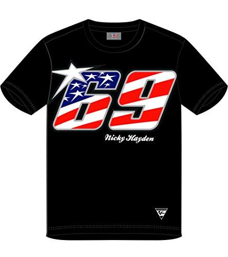 Pritelli 1834001/L Herren-T-Shirt Ducati Nicky Hayden 69, Größe L