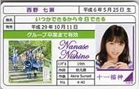 西野七瀬 いつかできるから今日できる 免許証カード 乃木坂46 十一福神