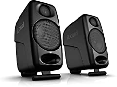 Studio reference monitors for critical audio production listening in small spaces Super-near-field design puts the sweet spot right at your ears on a typical desk DESKTOP/SHELF switch adapts response for superior sound from any speaker placement Exte...