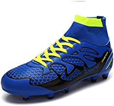 DREAM PAIRS Men's 160858-M Royal Black N.Green Fashion Cleats Football Soccer Shoes Size 11 M US