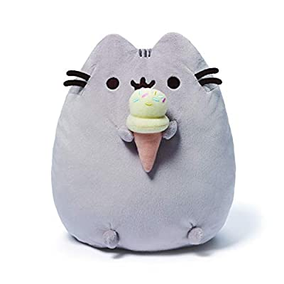 GUND Pusheen Snackables Ice Cream Plush Stuffed Animal Cat, 9.5""