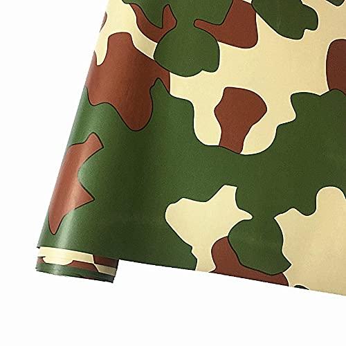 50cmx152cm camuflaje vinilo pvc etiqueta engomada de carro envoltura ejército militar verde camuflaje calcomanía lámina para auto envoltura de motocicleta ZSSGSHR (Color Name : B color)