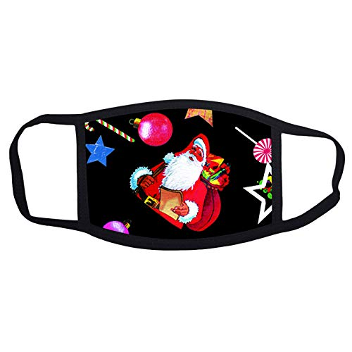 Wankting Europe Face Wear Unisex Weihnachtselement Print Face Schal gewaschen wiederverwendbar für Sportfestivals im Freien Verstellbare Ohrschlaufen Mundprodukt