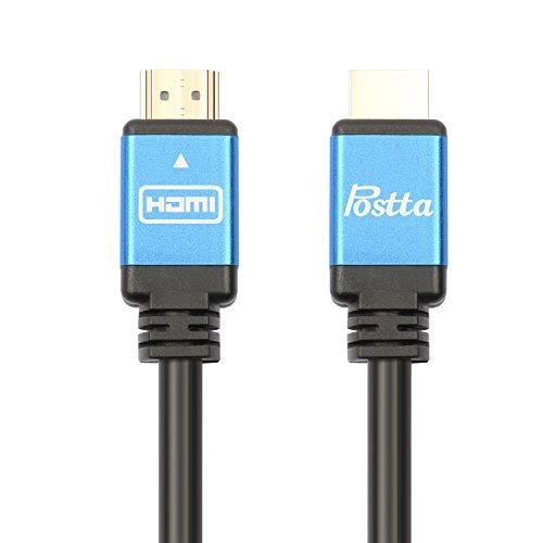 Postta HDMIケーブル ハイスピード Ver2.0 1080p/2160p 4K/2K対応 UHD 3D HDRイーサネット対応 10M(ブルー)