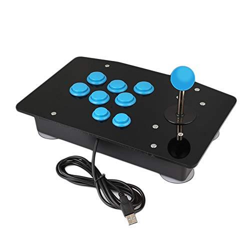 Digitalkey USB Arcade Controller met joystick in kast - Container met 6 30 mm en 2 22 mm knoppen (blauwe set)