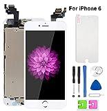 Ecran LCD Vitre Tactile Complet sur Châssis pour iPhone 6 Blanc 4,7'' avec Outils Bouton Home...