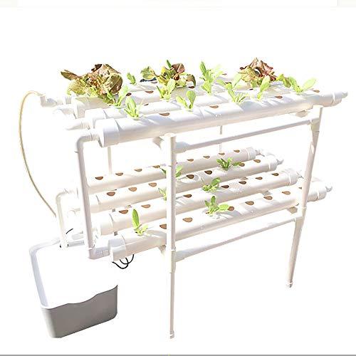 CRZJ Kit di Coltivazione idroponica, Sistema Hydroponisches, 2 Strati 72 siti di Piante Kit di Coltivazione idroponica, esperimento idroponico, Verdure, Fiori, Frutta
