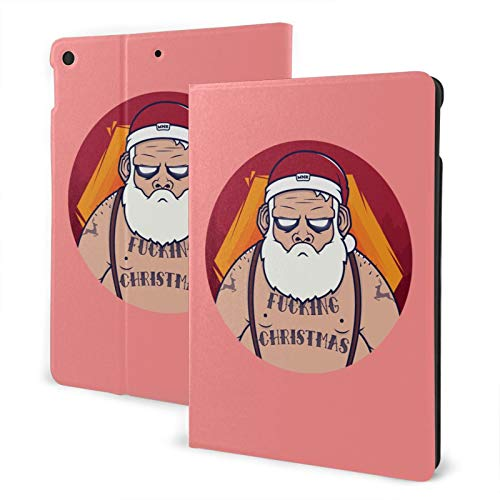 Santa Claus New Ipad Case Fit 7th Generation/ Air3, Full-Body Trifold with Built-in Screen Protector Protective Smart Cover with Auto Sleep/Wake