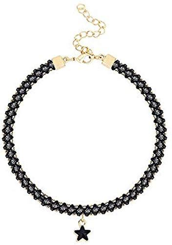 YOUZYHG co.,ltd Collar Collar Trenzado Colgante Cadena Corta Collar de clavícula Femenina