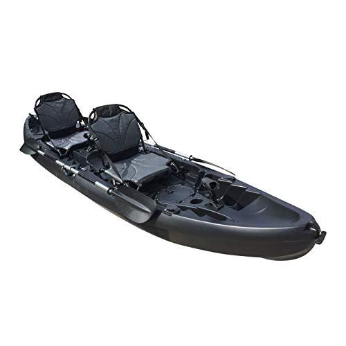 Cambridge Kayaks ES, Sun Fish TÁNDEM SÓLO 2 + 1,Negro, RIGIDO, Asiento Alto